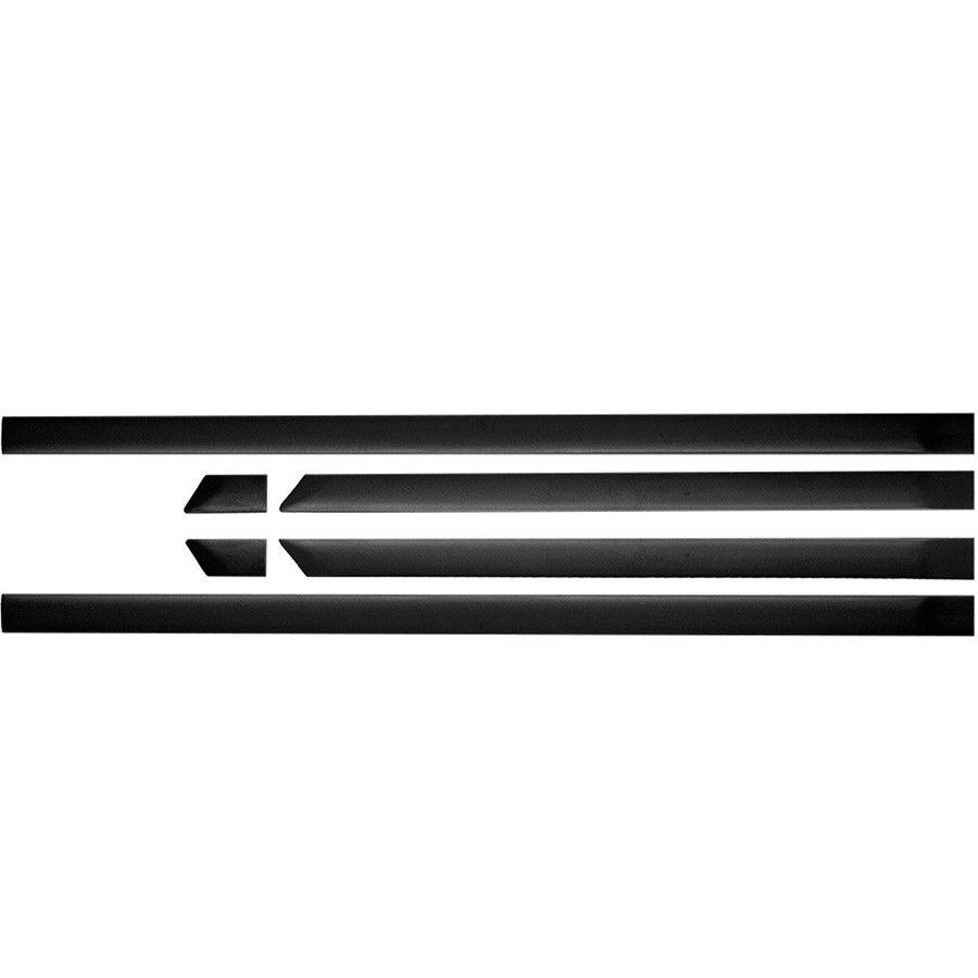 kit friso Borrachao Preto Gol G4 Largo Serve G2 G3 4 Portas s/friso  cromado