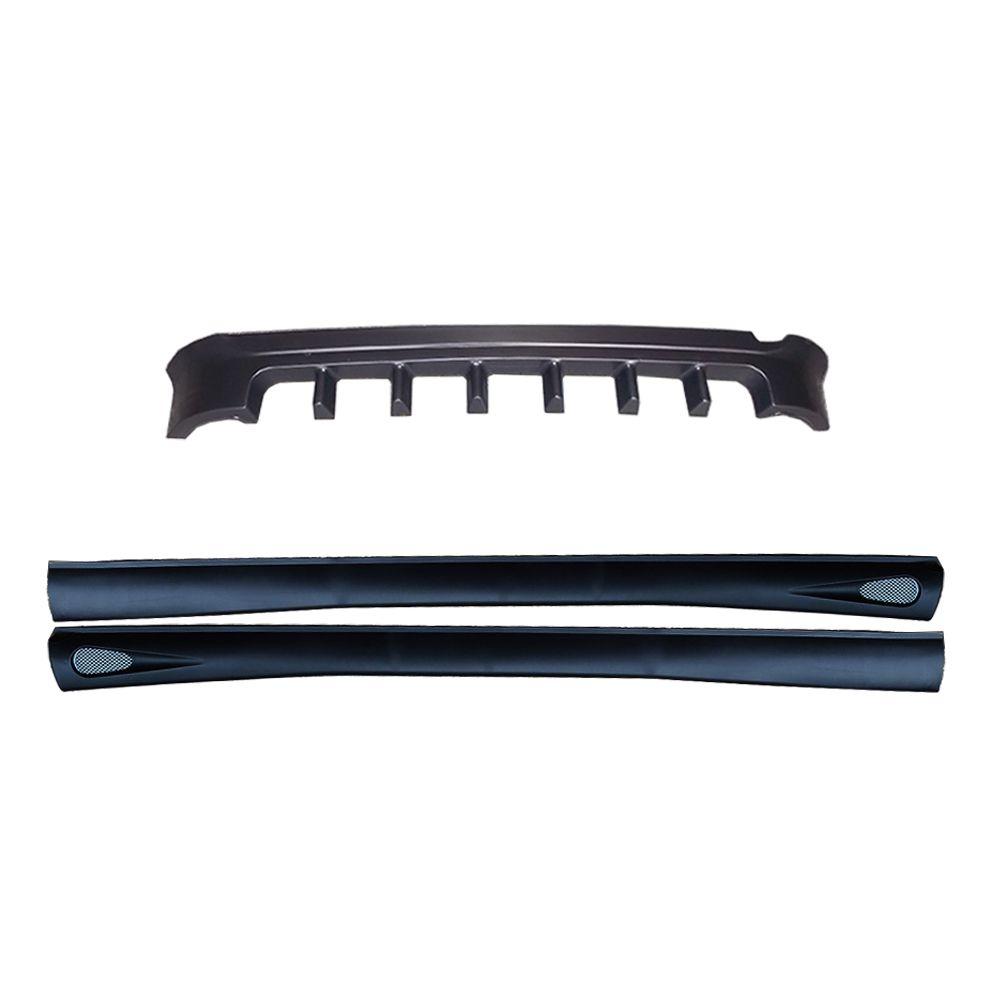 spoiler traseiro extrator + par de spoiler lateral celta g1 00-05