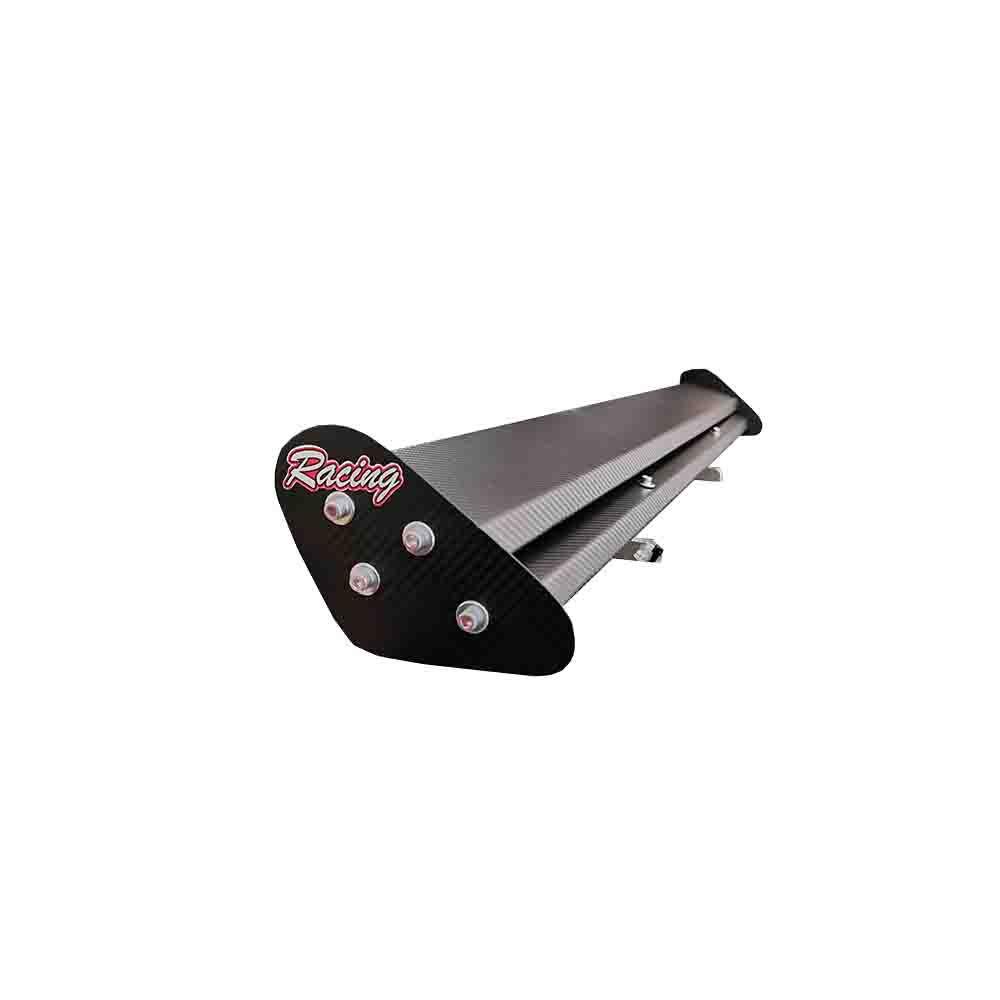 Aerofolio Tuning Black Racing Universal 1metro X 14cm