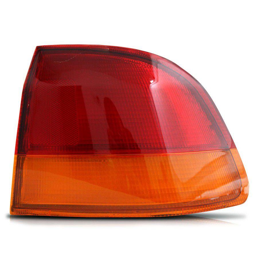 Lanterna traseira Civic sedan  96 97 98 bicolor ambar  canto