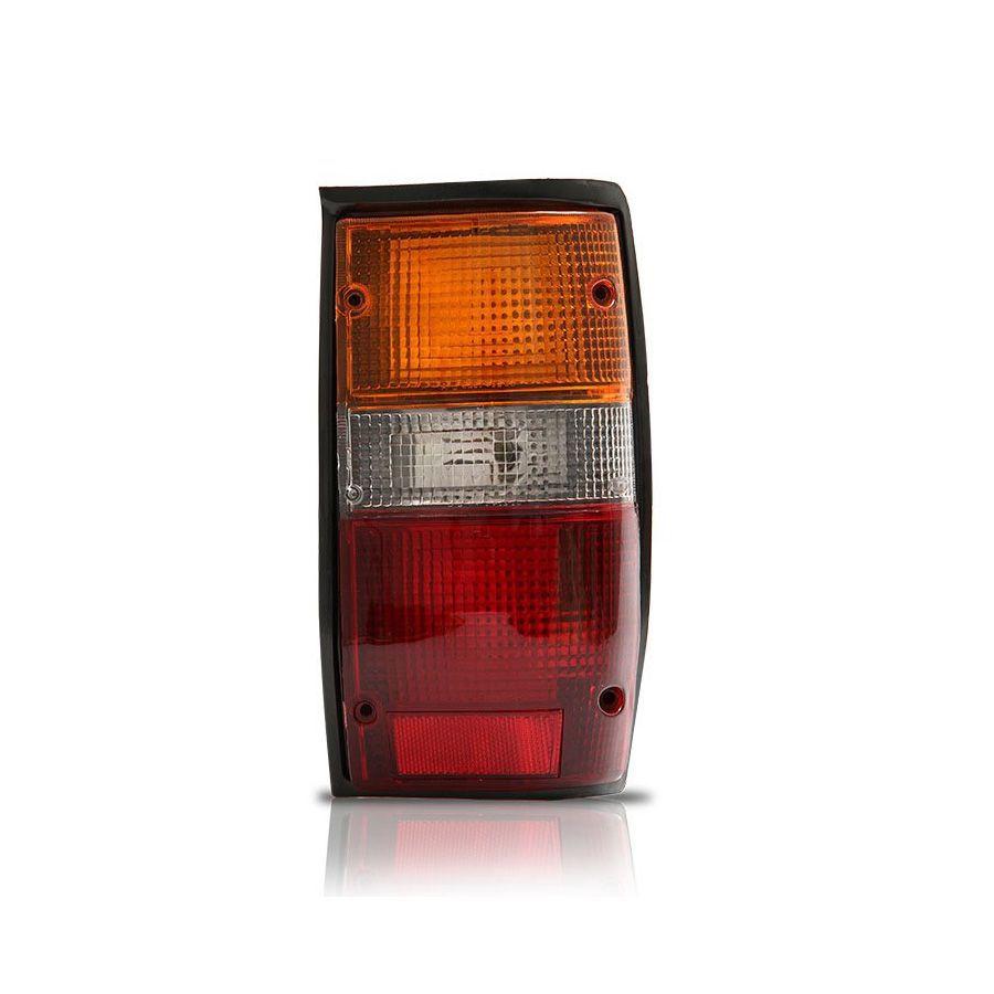 Lanterna Tras Mitsubishi L200  94 Até 03 Moldura Preta