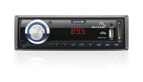 Rádio Multilaser Wave P3108 Usb Mp3 Sd + Auxiliar Frontal