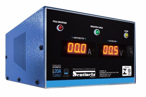 Carregador Bateria Sentinela Inteligente 20ah 12v Digital Flutuante