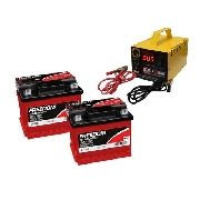 Kit 2 Bateria Freedom Df700 50ah Carregador 5ah 24v Nobreak