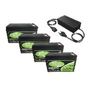 Kit 4 Bateria 6dzm10 12v 10ah Bike Eletrica Carregador 48v
