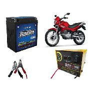 Kit Bateria Moto Raiom Ytx7l-bs Carregador Inteligente 3ah Falcon