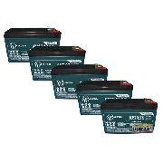 Kit 5 Bateria Global 10ah 12v Bike Elétrica 6dzm10 Ciclo Profundo Moto Elétrica 6dzm10