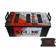 Kit Bateria Som Automotivo Stroke Power 400ah 12v + Voltímetro