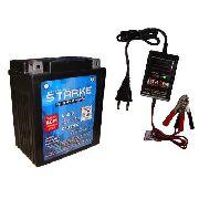Kit Bateria Moto Ytx7L-bs 5ah 12v Carregador Bateria Twister