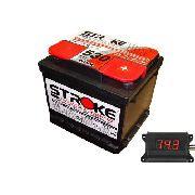 Kit Bateria Som Automotivo Stroke 65ah 12v Voltímetro Som