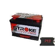 Kit Bateria Som Automotivo Stroke 80ah 12v Voltímetro Som