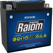 Bateria de Moto Raiom Ytx20-bs 18ah 12v Selada (Rtx18-bs)