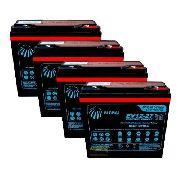 Kit 4 Baterias 27ah 12v Global Bike Elétrica 48v 6-dzm-20 Agm CICLO PROFUNDO