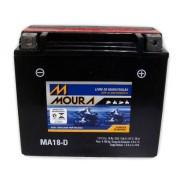 Bateria de Moto Moura Ytx20l-bs 18ah 12v Selada (Ma18-D)