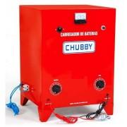 Carregador de Bateria Chubby 20ah 12v Carrega até 8 Baterias em Série