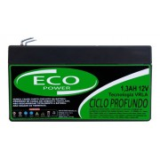 Bateria Eco Power 1,3ah 12v Ciclo Profundo Auxiliar Do Cambio Land Rover