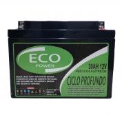Bateria Selada Eco Power 12V 30AH Ciclo Profundo VRLA