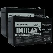 Kit 2 Bateria Selada Gel Ciclo Profundo Duran 10ah 12v 6-dzm-10