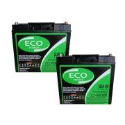 Kit 2 Baterias Eco Power Gel 12v 24ah Ciclo Profundo Bike 24v Cadeira De Rodas Da Ortobras 6-dzm-20