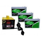 Kit 3 Bateria Eco Power 12v 16ah 6-dzm-12 Para Bike Elétrica Patinete Eletrico E CARREGADOR INTELIGENTE 36v 5ah