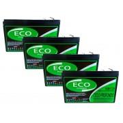 Kit 4 Baterias 15ah 12v Eco Power Ciclo Profundo
