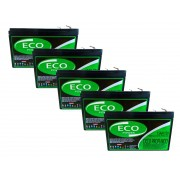 Kit 5un Bateria Gel 15ah 12v Ciclo Profundo