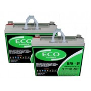 Kit 2 Baterias Eco Power 12v 35ah Cadeira De Rodas