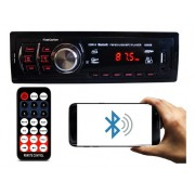 Rádio Automotivo Som Bluetooth Mp3 Player 1 Din Lcd Usb Sd