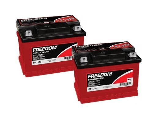 Kit 2 Bateria Estacionária Freedom Df1000 70ah Nobreak Ups