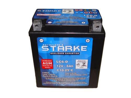 Bateria Moto Starke Ytx7-bs 6ah 12v Biz Cb Xt Intruder Ninja