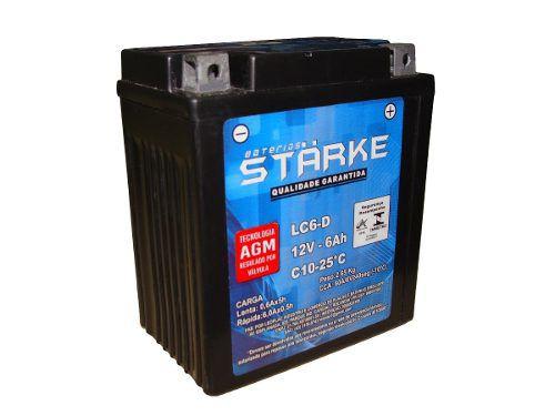 Bateria Moto Starke Ytx7-bs 7ah 12v Biz Cb Xt Intruder Ninja