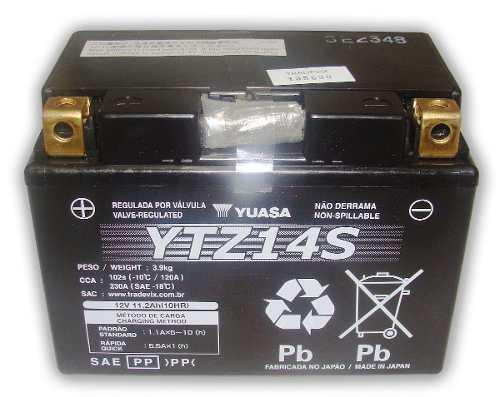 Bateria de Moto Yuasa Ytz14s 11,2ah 12v Selada