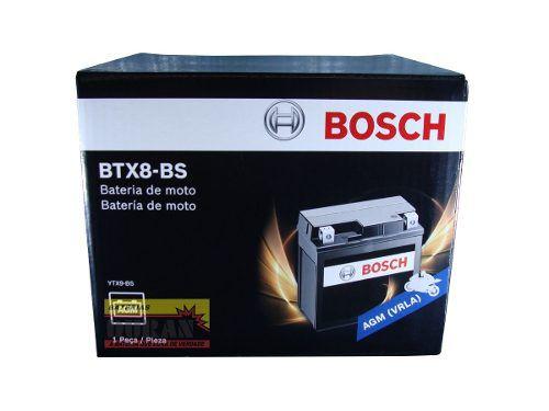 Bateria Moto Bosch Btx8-bs 8ah 12v Bmw S1000r Honda Cb 500 (YTX9-BS)