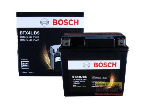 Bateria Moto Bosch Btx5l-bs 5ah 12v Honda Biz 125 Cg 150 Pop (YTX5L-BS)