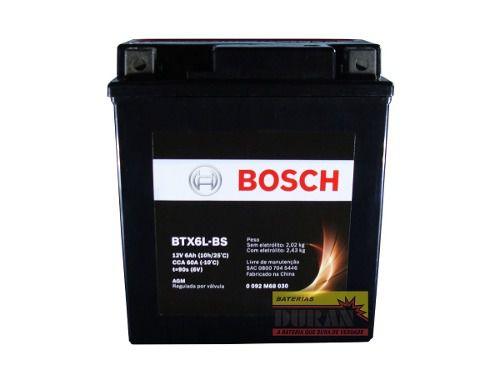 Bateria Moto Bosch Btx7l-bs 7ah 12v Honda Biz Cg Cb Xt 225 (YTX7L-BS)