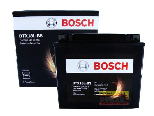 Bateria Moto Bosch Btx18l-bs 18ah 12v Harley Fat Boy (YTX20L-BS)