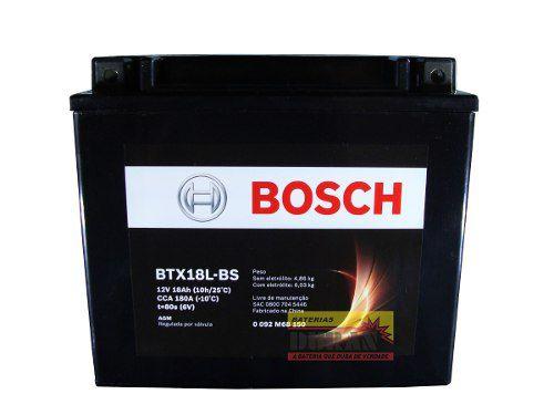 Bateria Moto Bosch Btx18l-bs 18ah 12v Harley Fat Boy