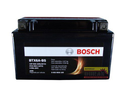 Bateria Moto Bosch Btx7a-bs 7ah 12v Suzuki Burgman 125 An (YTX7A-BS)