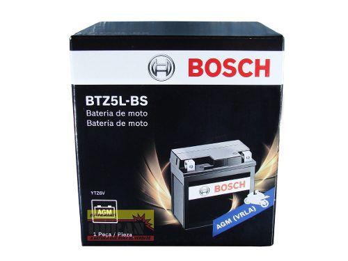 Bateria Moto Bosch Btz5l-bs 5ah 12v Honda Xre 300 Cg Titan (YTZ6V)