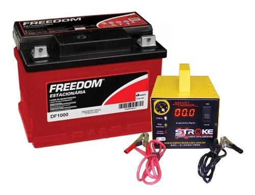 Kit Bateria Estacionaria Freedom Df1000 70ah Carregador 10ah