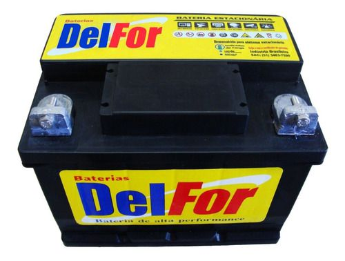 Kit Bateria Estacionaria Delfor DF1000 70ah 12v Carregador Stroke Power 10ah 12v