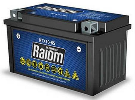 Bateria de Moto Raiom Ytz-10s 8,6ah 12v Selada (Rtx8,6-bs)