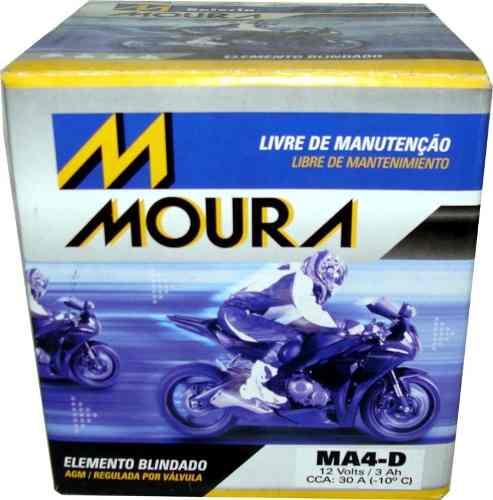 Bateria de Moto Moura Ytx5l-bs 4ah 12v Selada (Ma4-D)