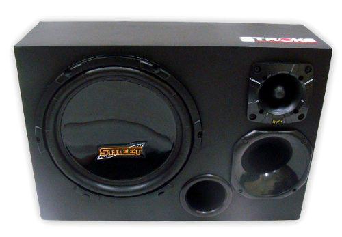 Kit Caixa Trio Street 400w Rms + Módulo Soundigital Sd400.1d
