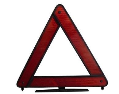 Triângulo De Segurança Com Base Preto Universal Emergência