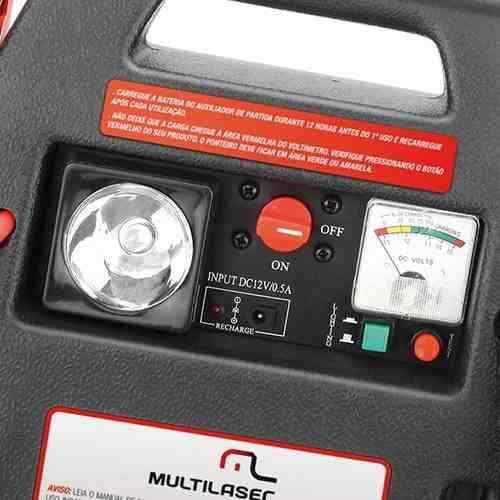 Auxiliar De Partida Emergência Compressor Luz 12v Multilaser