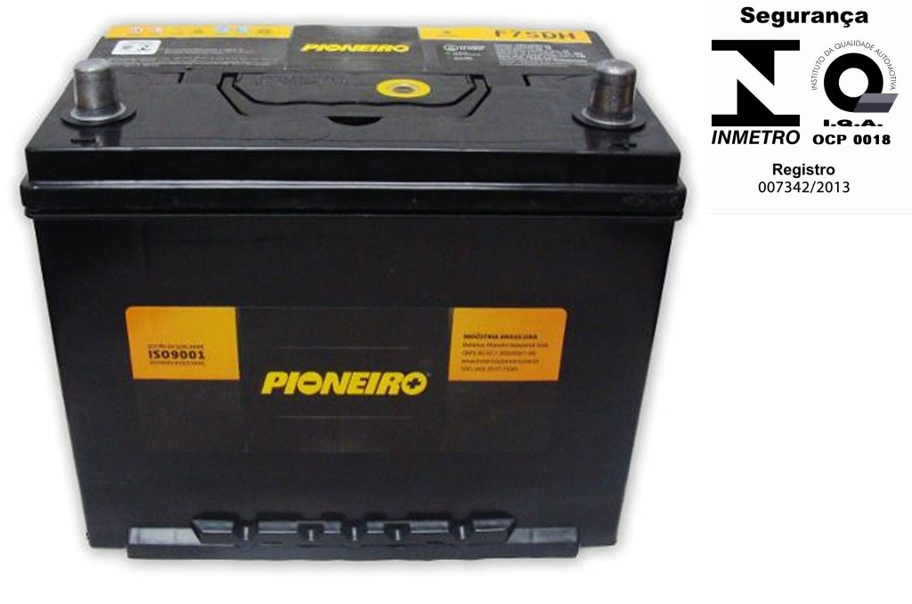 Bateria Automotiva Pioneiro 75ah 12v Selada Tucson Frontier Azera