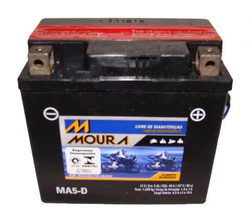 Bateria de Moto Moura Ytz6v 5ah 12v Selada (Ma5-D)
