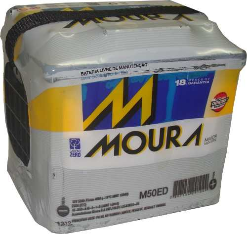 Bateria Moura Inteligente 50ah Ed Com 18 Meses De Garantia