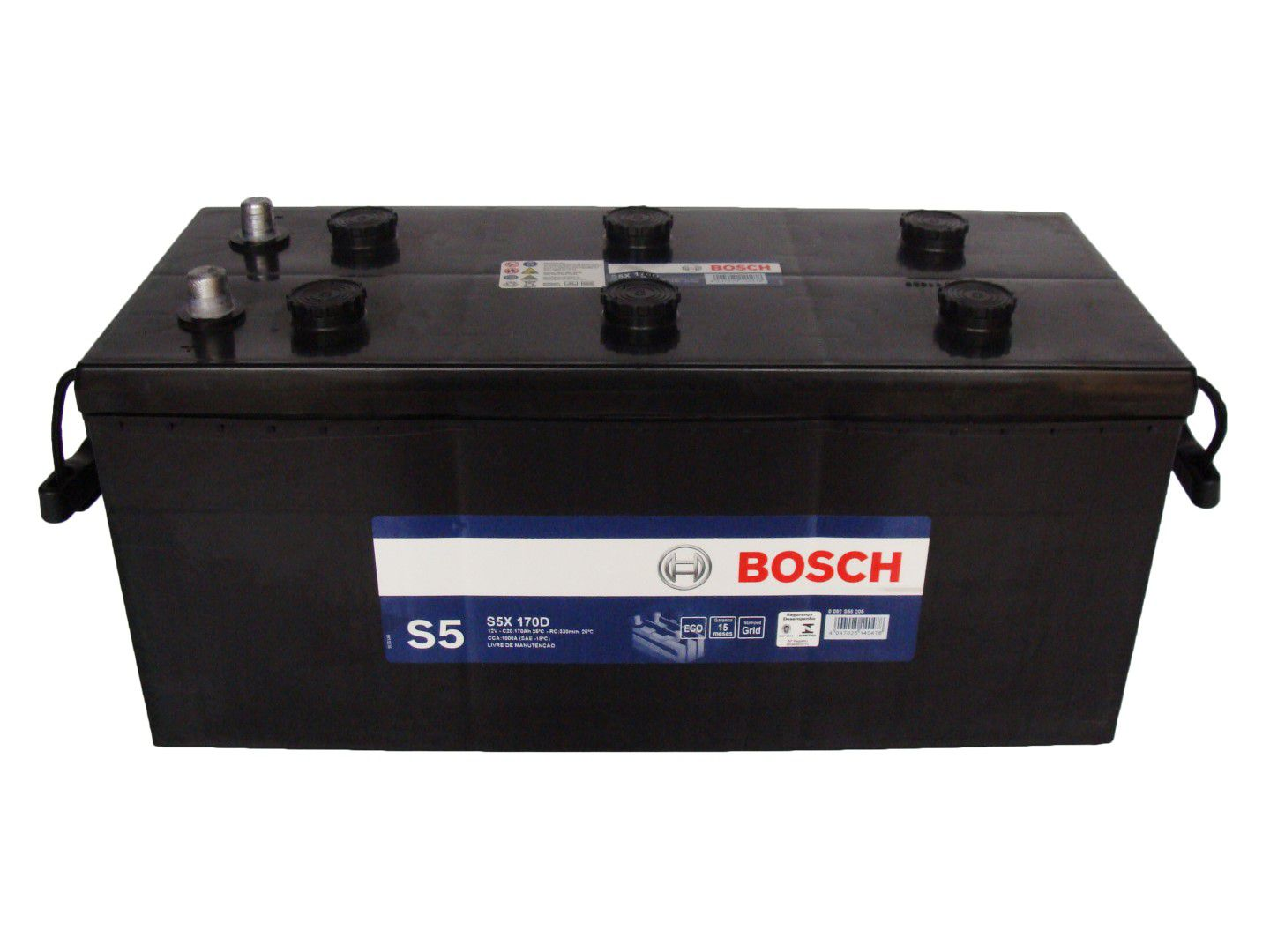 Bateria Automotiva Bosch 170ah Mercedes 915 Volkswagen CONSTELLATION Scania G 380 12v S5X170D